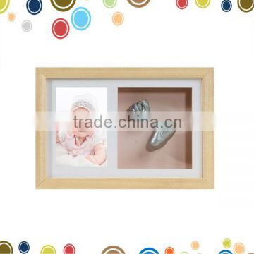 Baby casting kit with 3D box display frame of Baby hand and foot ...