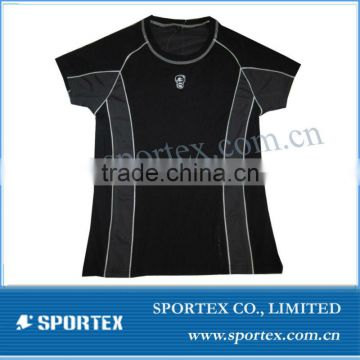 Women's short sleeve compression top / compression shirt for women / compression top
