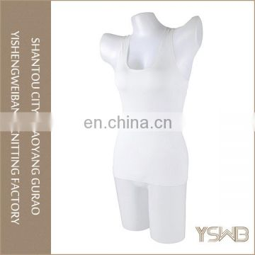 Cheap lady anti-bacterial plain dyed cotton breathable white camisole
