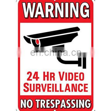 New arrive warning sign for mall security