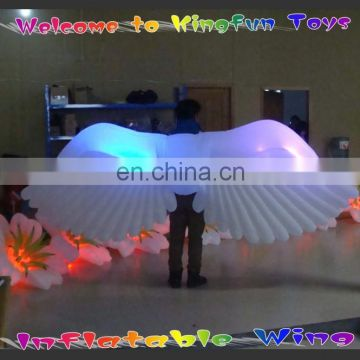 Portable inflatable led angel wing for party decoration
