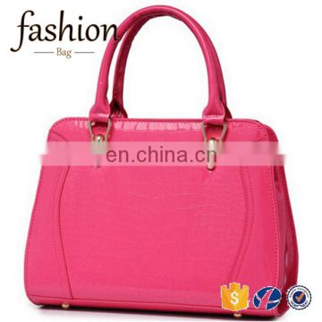 CR high quality control system famous brand ladies leather bags crocodile pattern women leather handbags