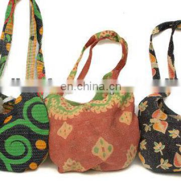 handmade kantha shoulder bag lot