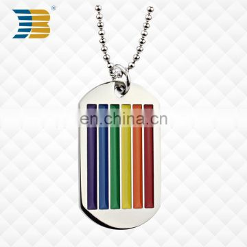 High quality custom metal dog tag necklace