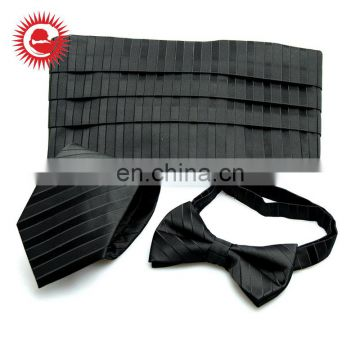 Wholesale cheap practical unique design black silk necktie