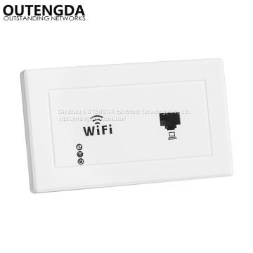 300Mbps 118 type Wall mount Wireless AP Access Point Socket WiFi Repeater Extender Router for hotel domitory office room