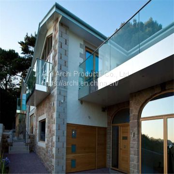Balcony Framess Glass Balustrade Aluminum U Base Channel Glass Railing