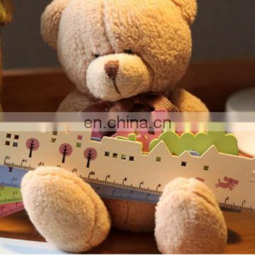 15cm Korean stationery Cartoon wood straigh rulers