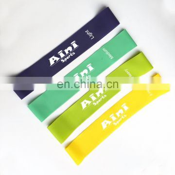 custom fitness resistance exercise resistance band loops with Instructional Booklet,Carry Bag