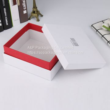 Custom printing and size lid and bottom solid gift cosmetic packaging box