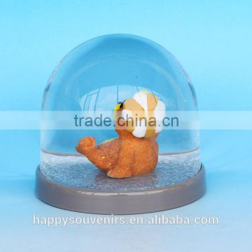 Custom Super Cute Bear Platice Snow Globe For Kids