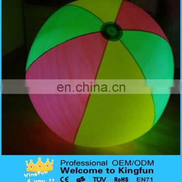Lighted show/event inflatable throwing ball for performance