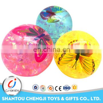 Special colorful plastic cotton toy flashing ball for wholesale