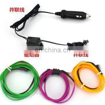 2016 new Car EL Wire suits el wire for car,with cigar adapter