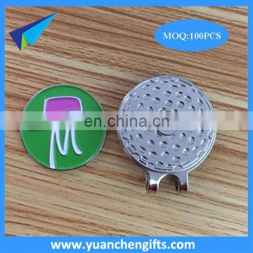 Bulk wholesale blank magneitc golf cap clip and custom markers