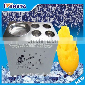 China supplier frying ice cream 10 coolings fried ice cream machine thailand fry ice roll machine