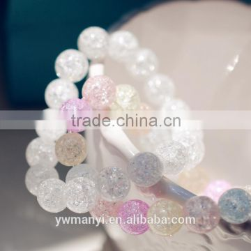 Top Design Crystal Jewelry Fashion mix color spring glass bead bracelet A0004