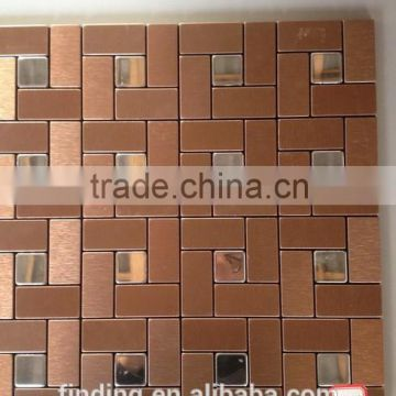 High Quality Rose Mixed Silver Color Mosaic Tiles FDA001