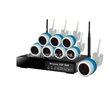 8CH CCTV System Wireless 960P NVR 8PCS 1.3MP IR Outdoor P2P Wifi IP CCTV Security Camera System Surveillance Kit 1TB HDD