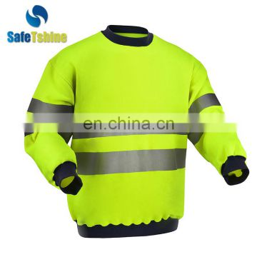 Comfortable and soft reflective safety unisex pullover sweater