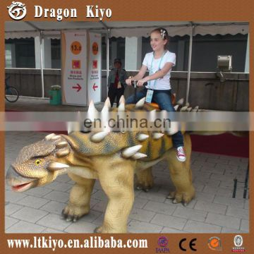 2015 hot sales amusement park walking and riding dinosaur for kids