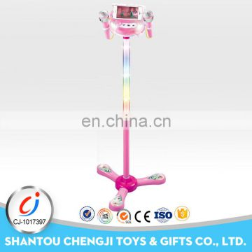 Cheap plastic touching microphone toy karaoke machine for kids