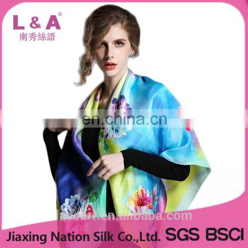 Digital printing new women's fashion lady silk scarf shawl