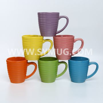 12 oz belly shape ceramic mugs in stock
