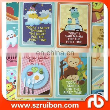 RUIBON PRINTING baby cards baby monthly milestone cards holiday cards set