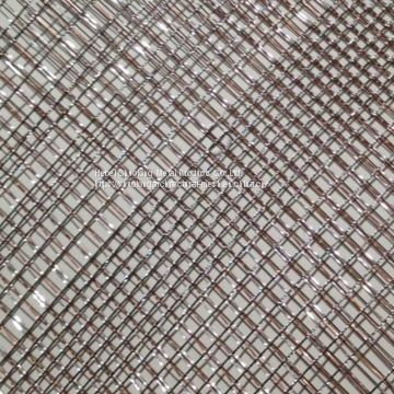 Shuolong Glass Laminated Mesh Series XY-R-04 Stainless Steel & Copper Mesh Laminate for Architecture Glass