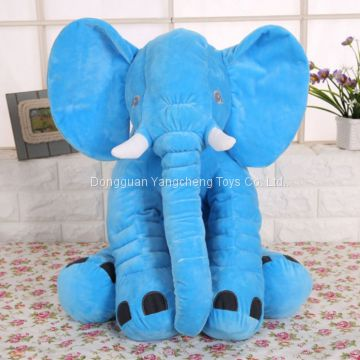 New custom stuffed toy elephant doll company mascot filled with comfortable soft high quality PP cotton
