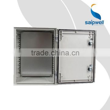 SAIP/SAIPWELL China Wholesale Electrical Waterproof Enclosure SMC Fiberglass Box with Steel Mounting Plate