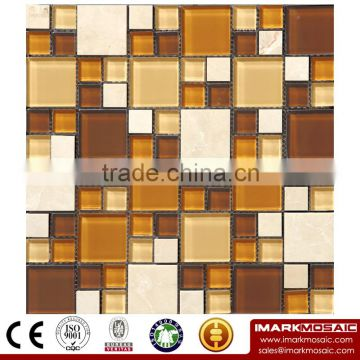 IMARK Mosaic Tile by Gold Foil Glass Mosaic Tiles, Spray Mosaic Tiles, Marble Mosaic Tiles Code IXGM8-001
