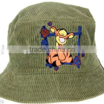 custom adult corduroy bucket hat