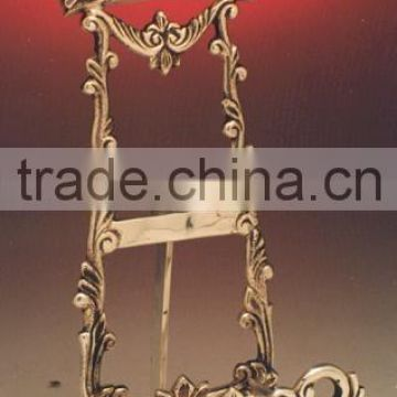 Metal Crown Portrait Frame Holder, Welcome Note Holder, Easel Frame