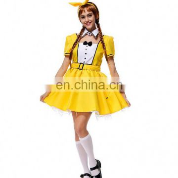 2017 Popular Sexy Cute Cosplay Waiter Maid Dress Costume Halloween