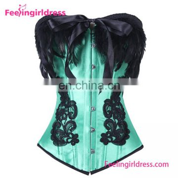 Elagant Lace Corset Green Overbust Sexy Lady Bustier Lingerie