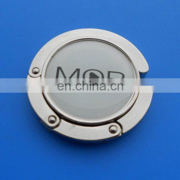 Offset Printing Company Logo MOR Metal Bag Hanger For Handbag