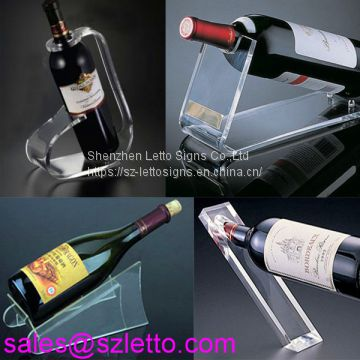 Customized clear acrylic wine bottle holder