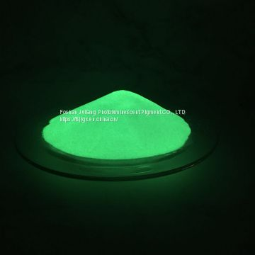 Long effect yellow green glow in the dark powder JPG-384 for injection molding / Non-toxic