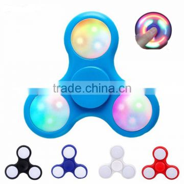 Wholesale price Fidget toys finger led hand spinner with hybird ceramic ball