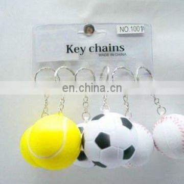 3.8CM mini pu ball, key chain mini pu ball