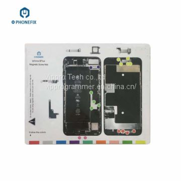 Iphone 8 Plus X Magnetic Screw Mat Repair Technician Disassembly Pad