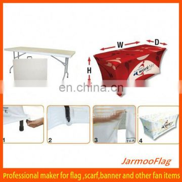 cheap advertising elastic table covers