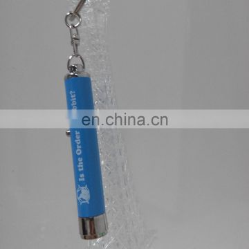 Aluminum alloy + ABS Led custom keychain with image projection for promotion
