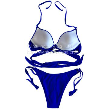 cross wrap underwire push up bikini top and bottom