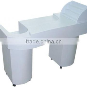 white modern nail table; best sale manicure table for salon