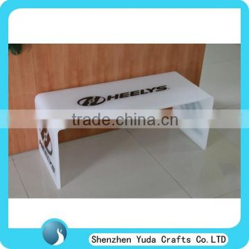 Customized Acrylic Vanity Table Bedside Table U Shaped Lucite Sofa Table ...