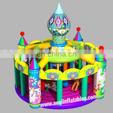 2015 new design Merry go round inflatable bouncer