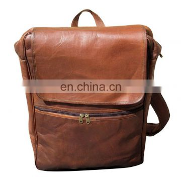 LEATHER VINTAGE LOOK HANDSOME BACKPACK